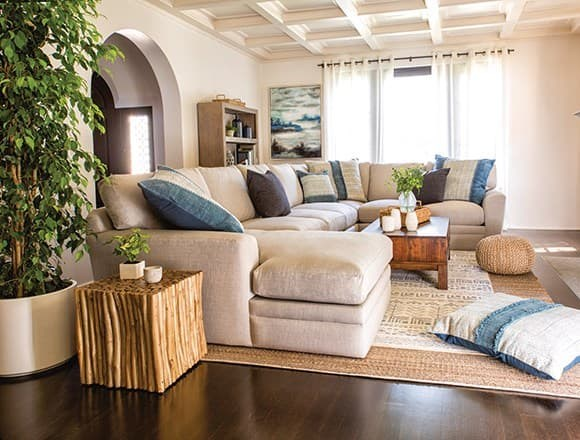 Boho Living Room with Glamour II Sofa