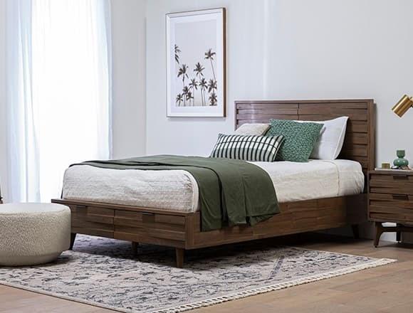Boho Bedroom with Caleb Queen Platform Bed With Storage