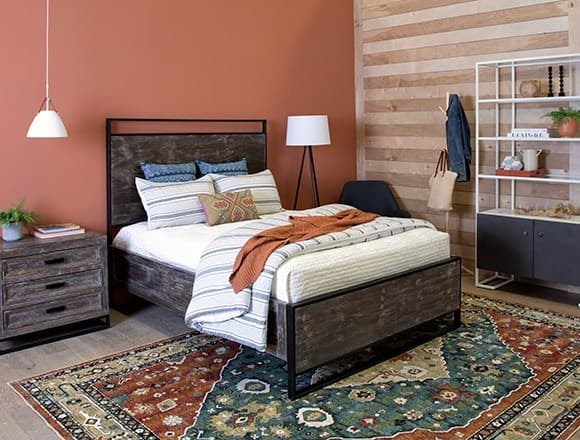 Boho Bedroom with Urban Loft Eastern King Panel Bed