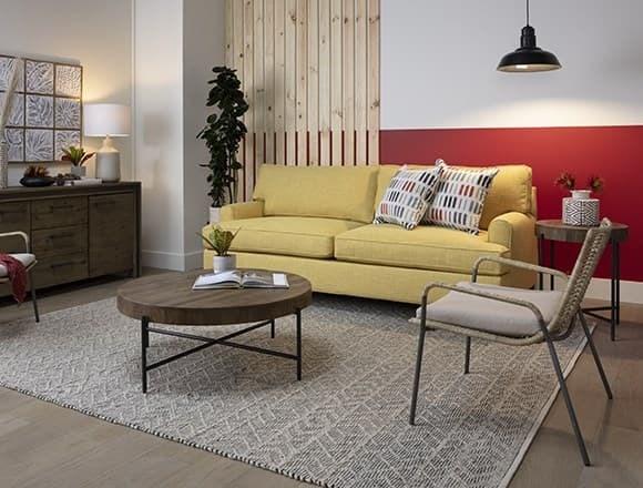 Boho Small Apartment Living Room with Emerson II Sofa