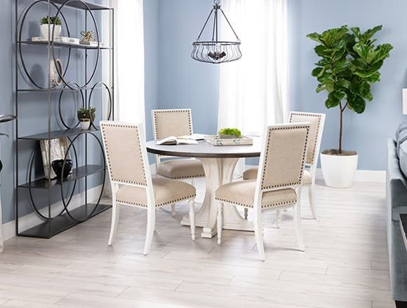 Modern Dining Room with Candice II 5 Piece Round Dining Set