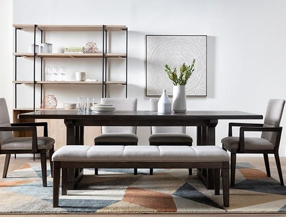 Modern Dining Room with Helms 6 Piece Rectangle Dining Set With Side Chairs