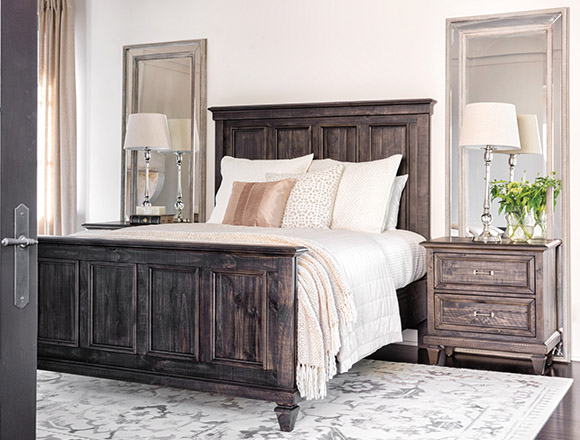 Traditional Bedroom With Valencia Queen Panel Bed