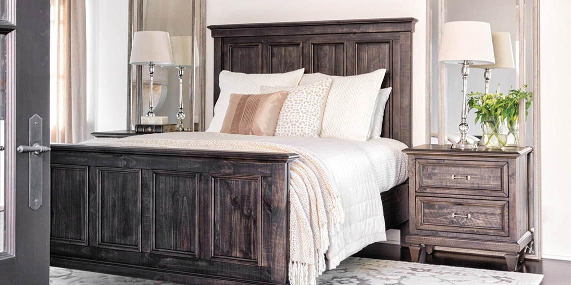 Traditional Bedroom with Valencia Queen Panel Bed | Living Spaces