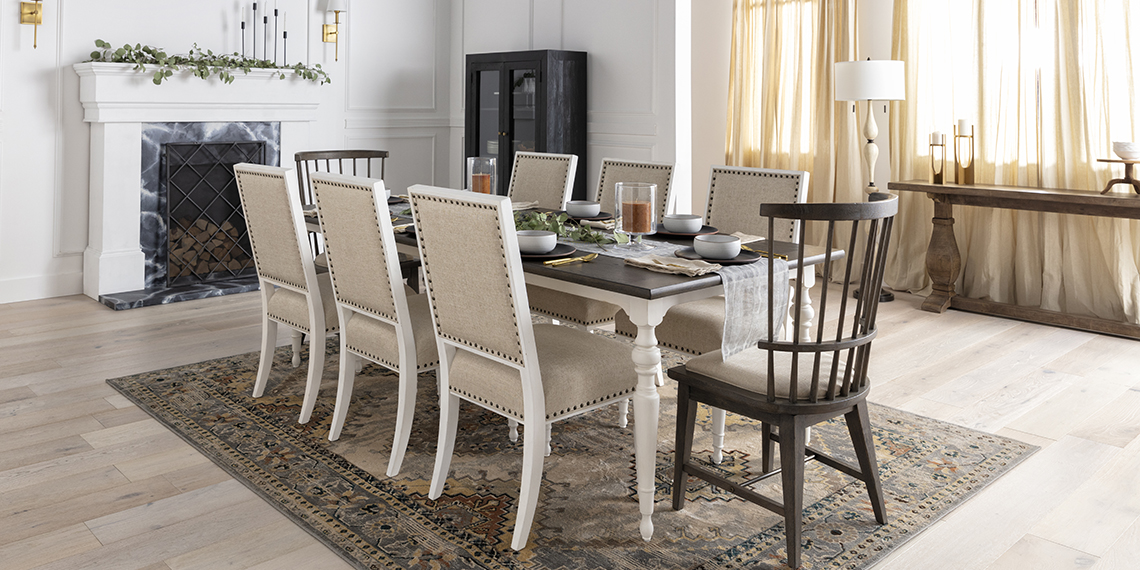 traditional Dining Room with Candice II Extension Rectangle Dining Table