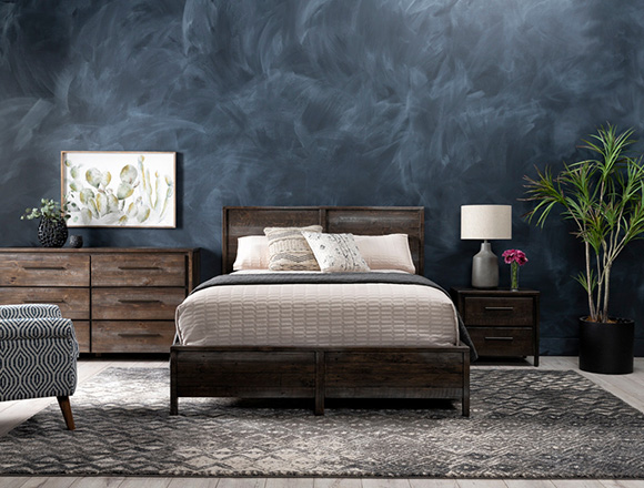transitional Bedroom with Colton Queen Panel Bed