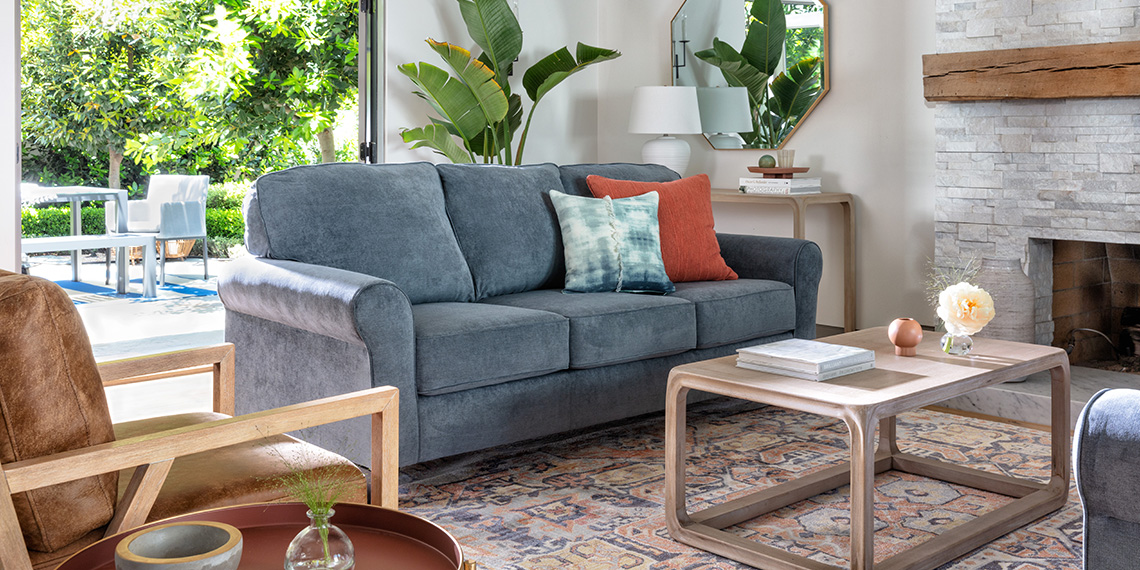 transitional Living Room with Neah Sofa