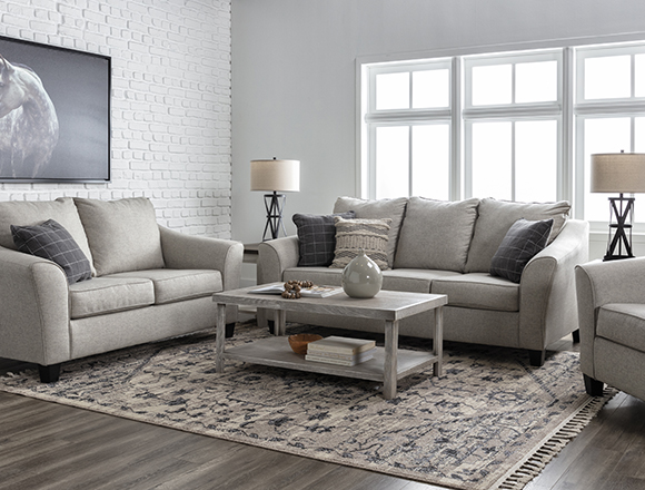 transitional Living Room with Kinsley Sofa