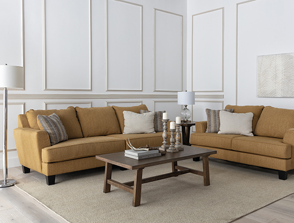 transitional Living Room with Elijah II Sofa
