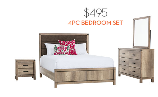 Tarver Queen 4 Piece Bedroom Set