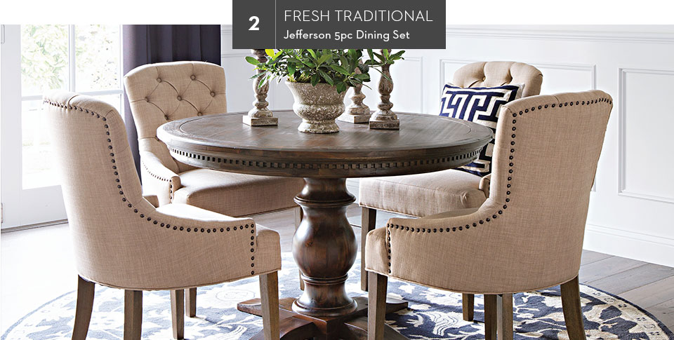 2. Fresh Traditional | Jefferson 5pc Dining Set