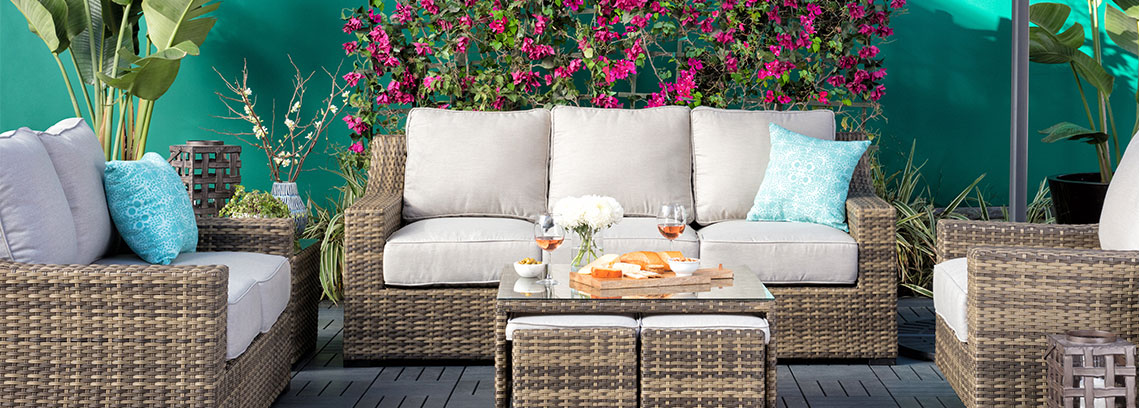 Outdoor + Patio Furniture | Living Spaces on Living Spaces Patio Set id=81360