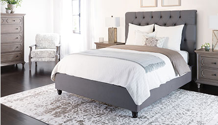 Leighton Queen Upholstered Panel Bed