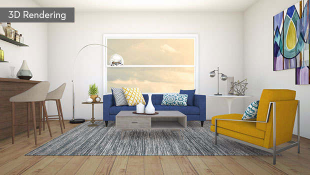 3D Rendering  Actual Room Virtual Designer Design Your In Living Spaces