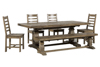 6pc Wood Dining Sets
