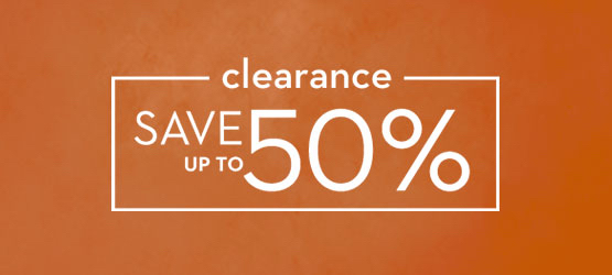 clearance, save up to 50%