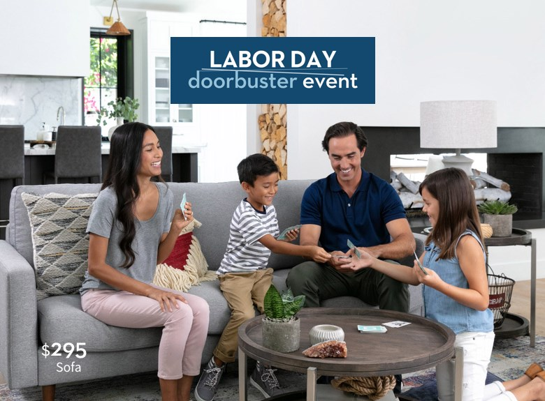 Labor Day doorbuster event | $295 sofa
