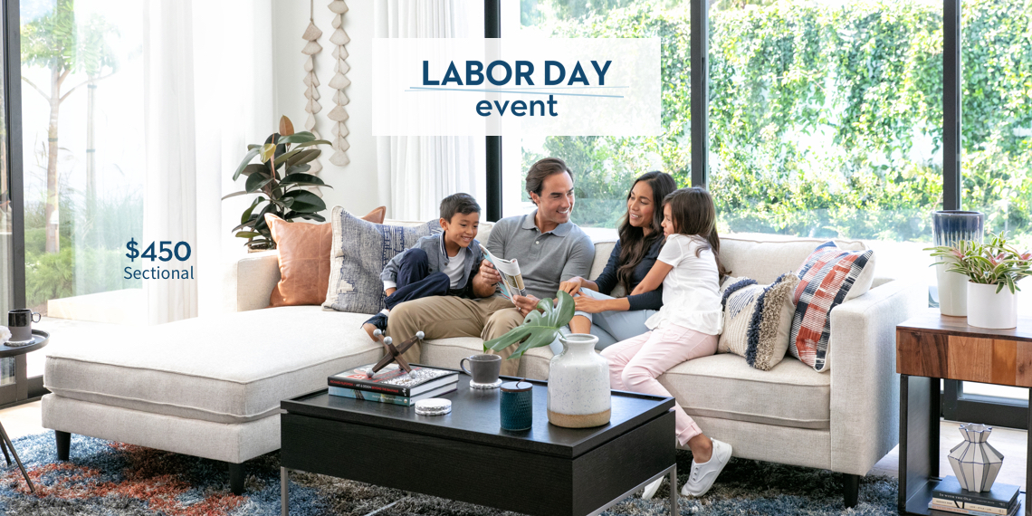 Labor Day Event - $490 sectional
