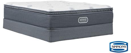 Simmons Plush Pillow Top Queen Mattress w/ Foundation