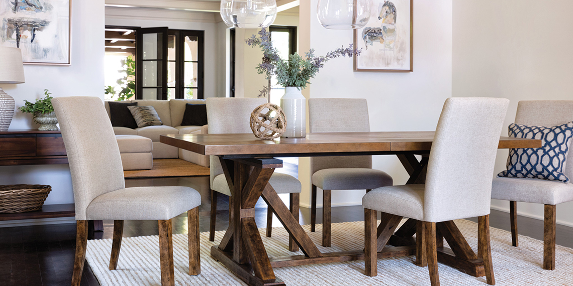 Coastal Dining Room with Chandler Set | Living Spaces
