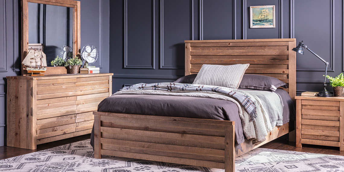 Country/Rustic Bedroom with Sawyer bed