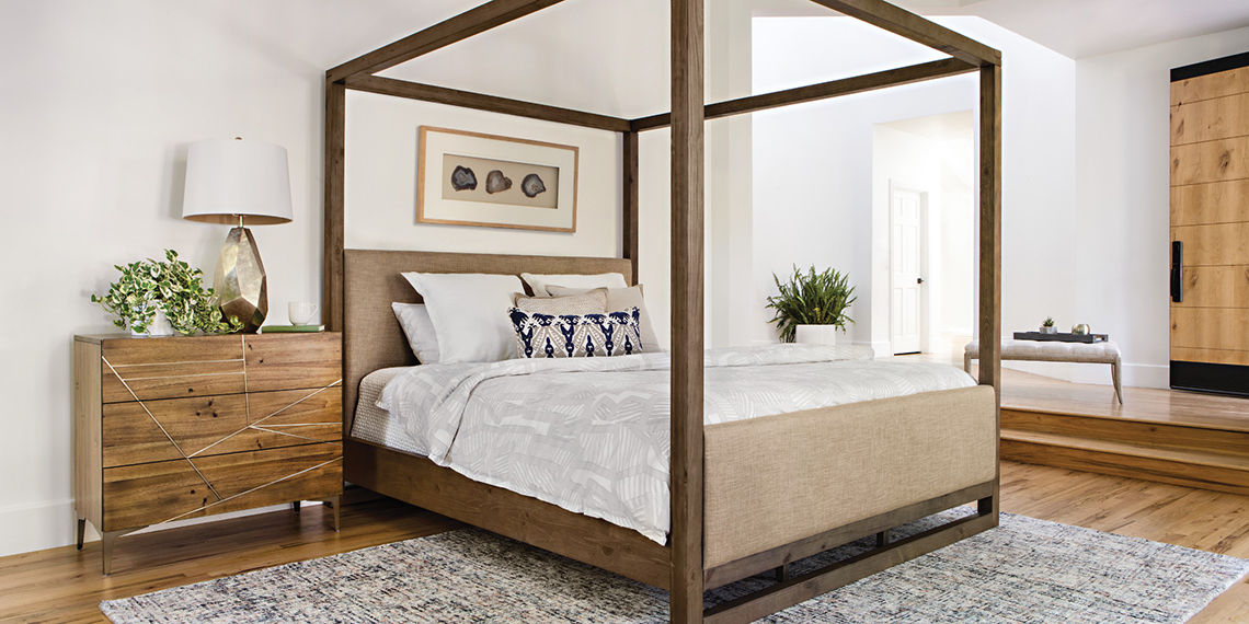 Modern Bedroom with Nelson bed