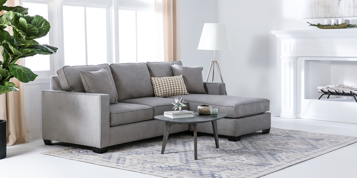 Modern Living Room with Egan II Sofa