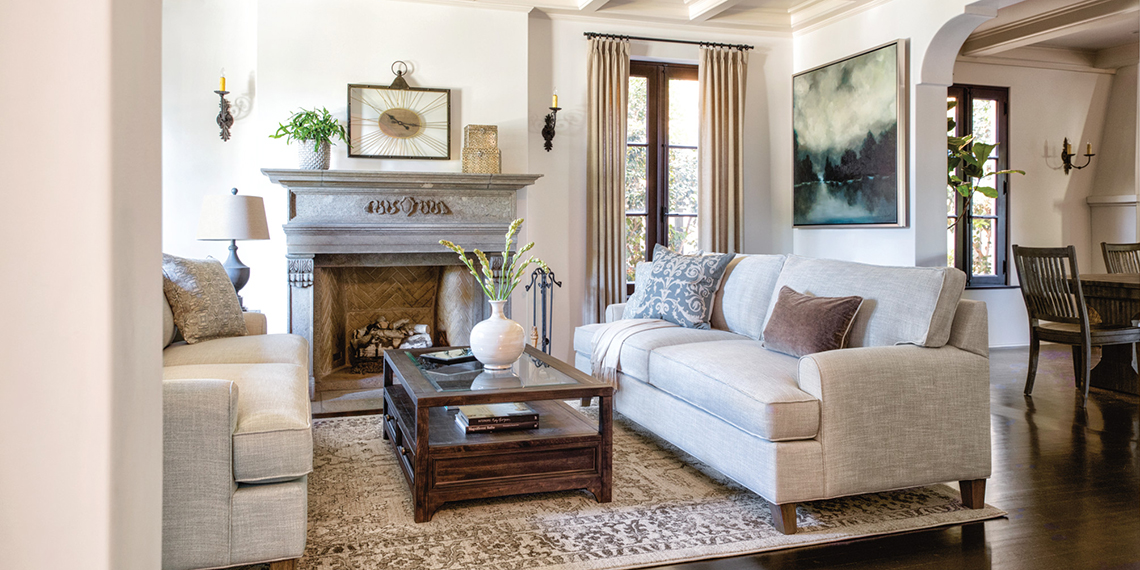 Traditional Living Room with Emerson Sofa