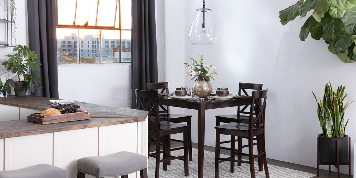 Transitional Dining Room with Pierce Dining Set | Living Spaces