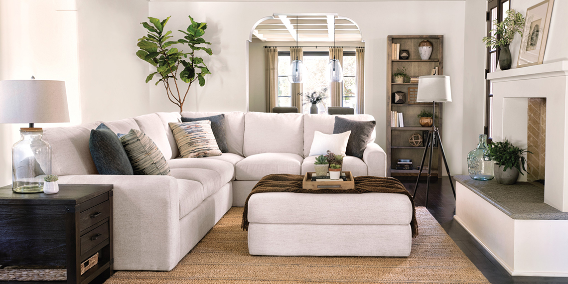Transitional Living Room with Bowen Sofa