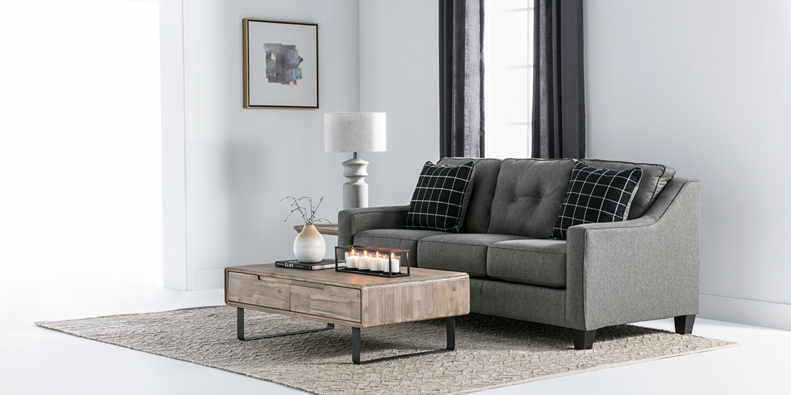 Transitional Living Room with Brindon Sofa