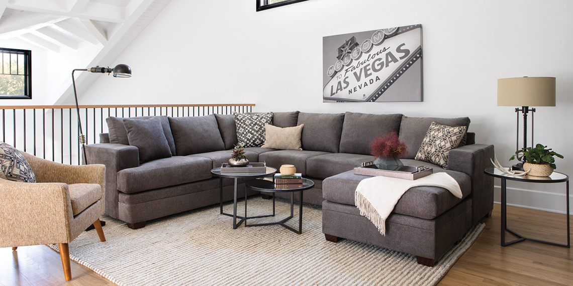 Transitional Living Room with Kerri Sofa