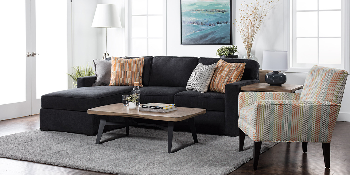 Transitional Living Room with Taren Sofa
