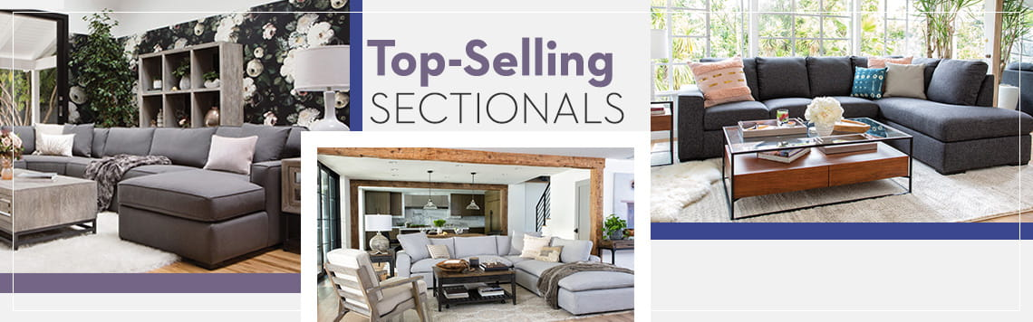 Top-Selling Sectionals   Living Spaces