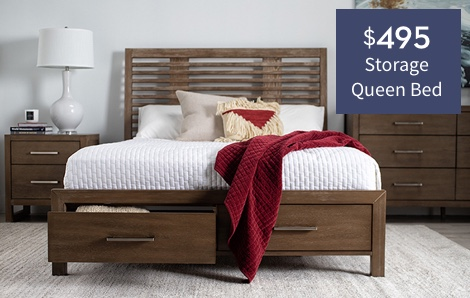 $495 storage queen bed