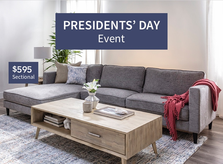 Presidents' Day Event - $595 Sectional