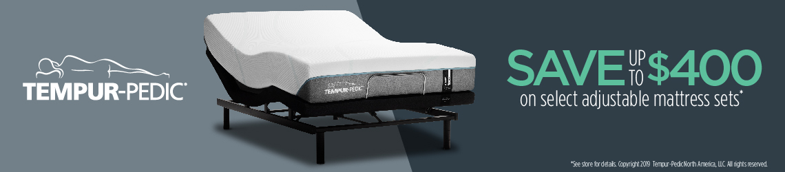Tempur-Pedic save up to $400 on select adjustable mattress sets