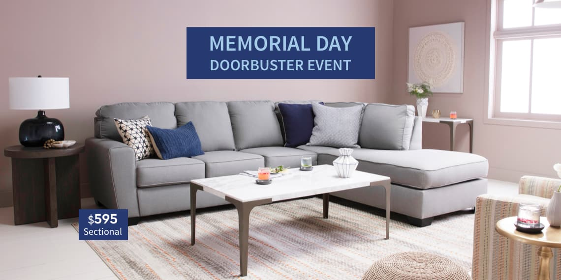 Memorial Day Event. Sectional $595