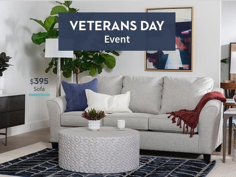 Veterans Day Event. $395 Sofa