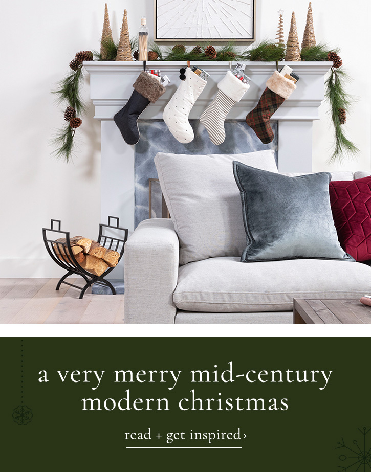 a very merry mid century modern christmas - read and get inspired