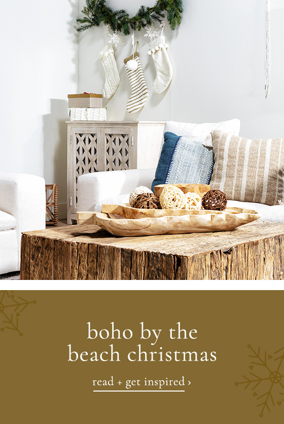 boho by the beach christmas - read and get inspired