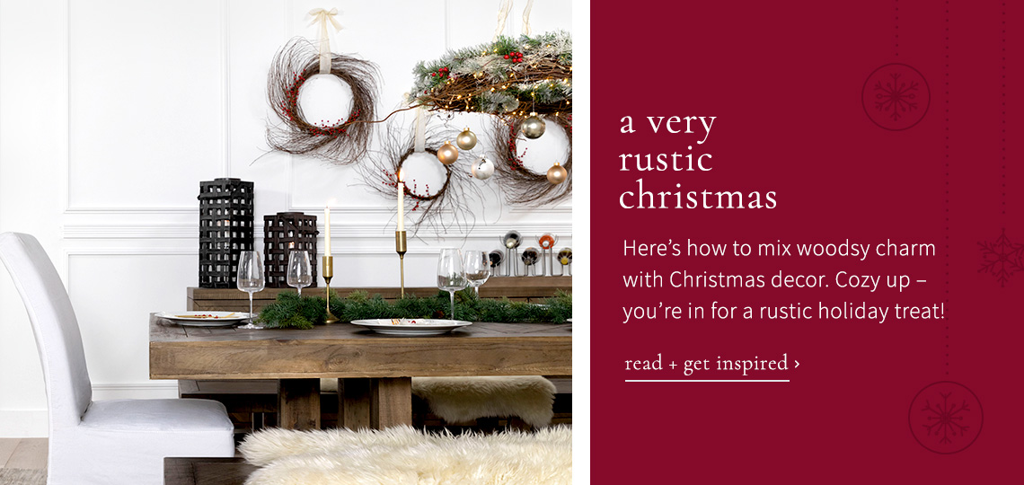 A very rustic christmas - read and get inspired