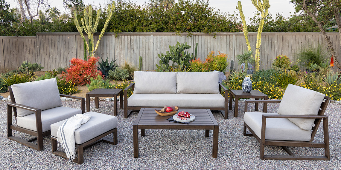Modern Patio & Backyard with Carmen Outdoor Sofa