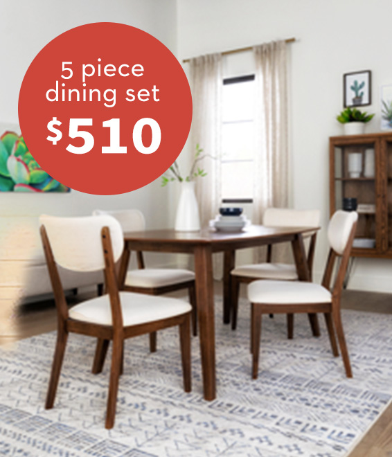 Kara 5 Piece Dining Set $510