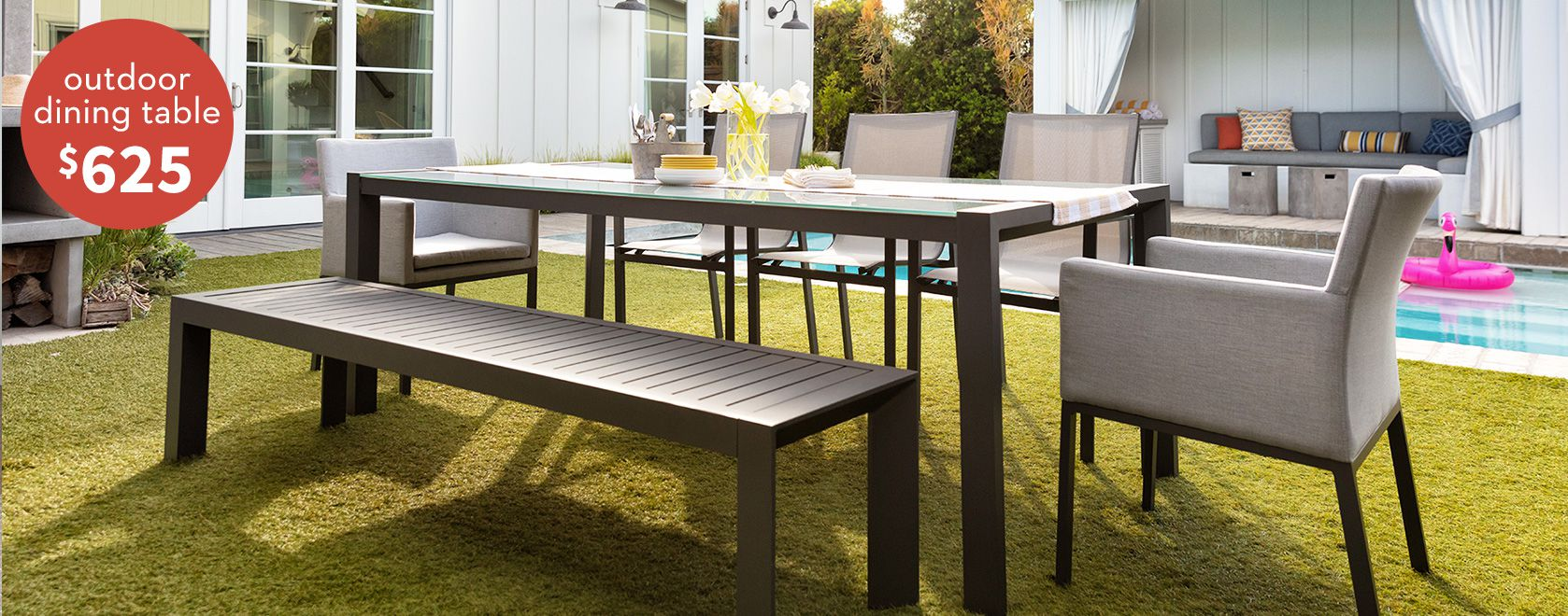 Ravelo Outdoor dining table $625