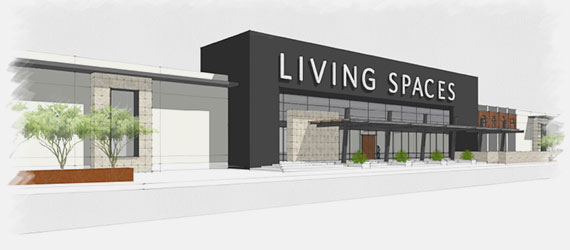 Living Spaces Storefront drawing