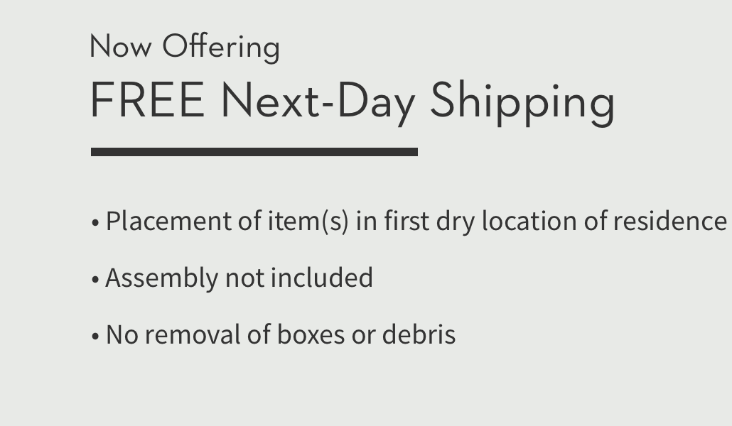 Now offering free next-day shipping.