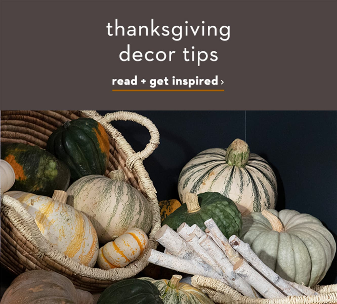 Thanksgiving decor tips.