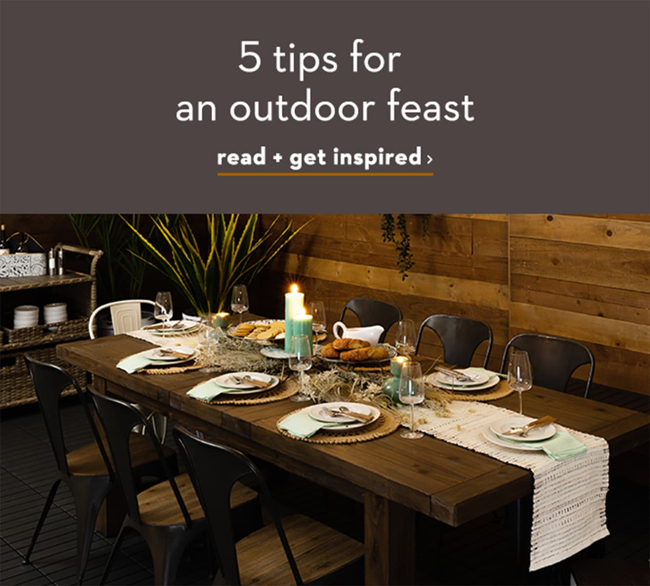 5 tips for an outdoor feast
