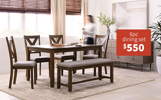 6pc dining set  $550